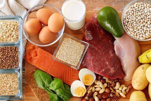 ingrédients avec des protéines pour fitness