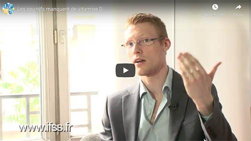 capture d'écran d'une interview de julien venesson au sujet de la vitamine D chez les sportifs